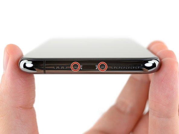 Sostituire vetro iPhone: le due viti centrali