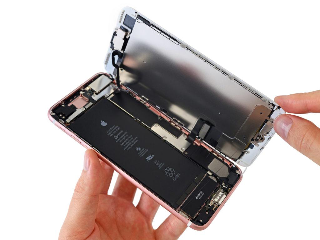 sollevare per sostituire vetro iPhone