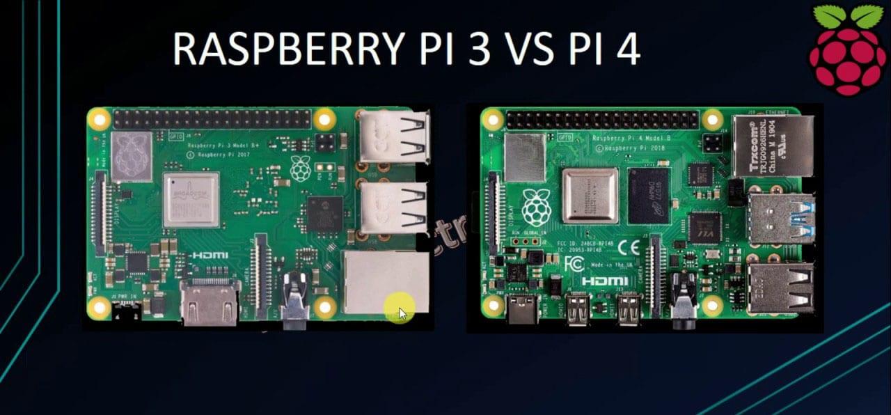 Raspberry Pi 4 VS Raspberry Pi 3 B+